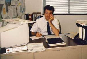 From the archives: Phil Hansen in 1990 working for the Red Cross, Rochester, MN.