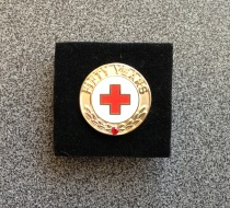 Dan Peitso received this 50 Years pin from the American Red Cross.