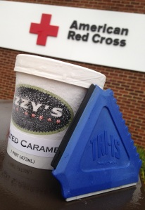 Ice cream vs. ice scraper?  Hmmm, what would the Red Cross chose?