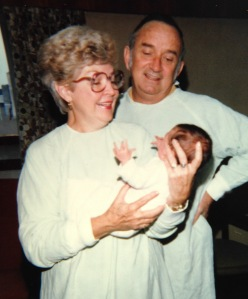 Kelly Vetter's grandma Nana holds her 2-day old granddaughter. Also pictured is Kelly's grandpa Walter. Photo provided courtesy of Kelly.