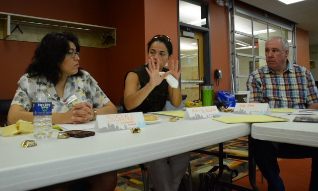"""Maria Arboleda, a program coordinator in higher education, says that many people have resources to be prepared, but that """"if we want get this education out to communities, then we need more Spanish speakers and more people from the communities."""""""