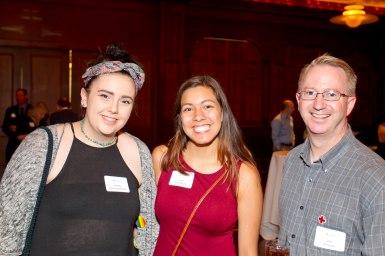 Red Cross volunteer award recipient Sara Schomburg (c). Photo credit: Andy King.
