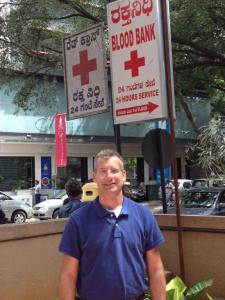 Minnesota Red Cross board member Craig Yolitz in Bangalore, India, 2014.