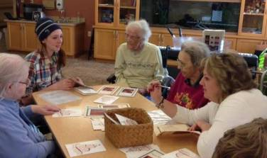 Holiday Mail for Heroes card signing event at Neilson Place, Bemidji, MN, November 3, 2014.