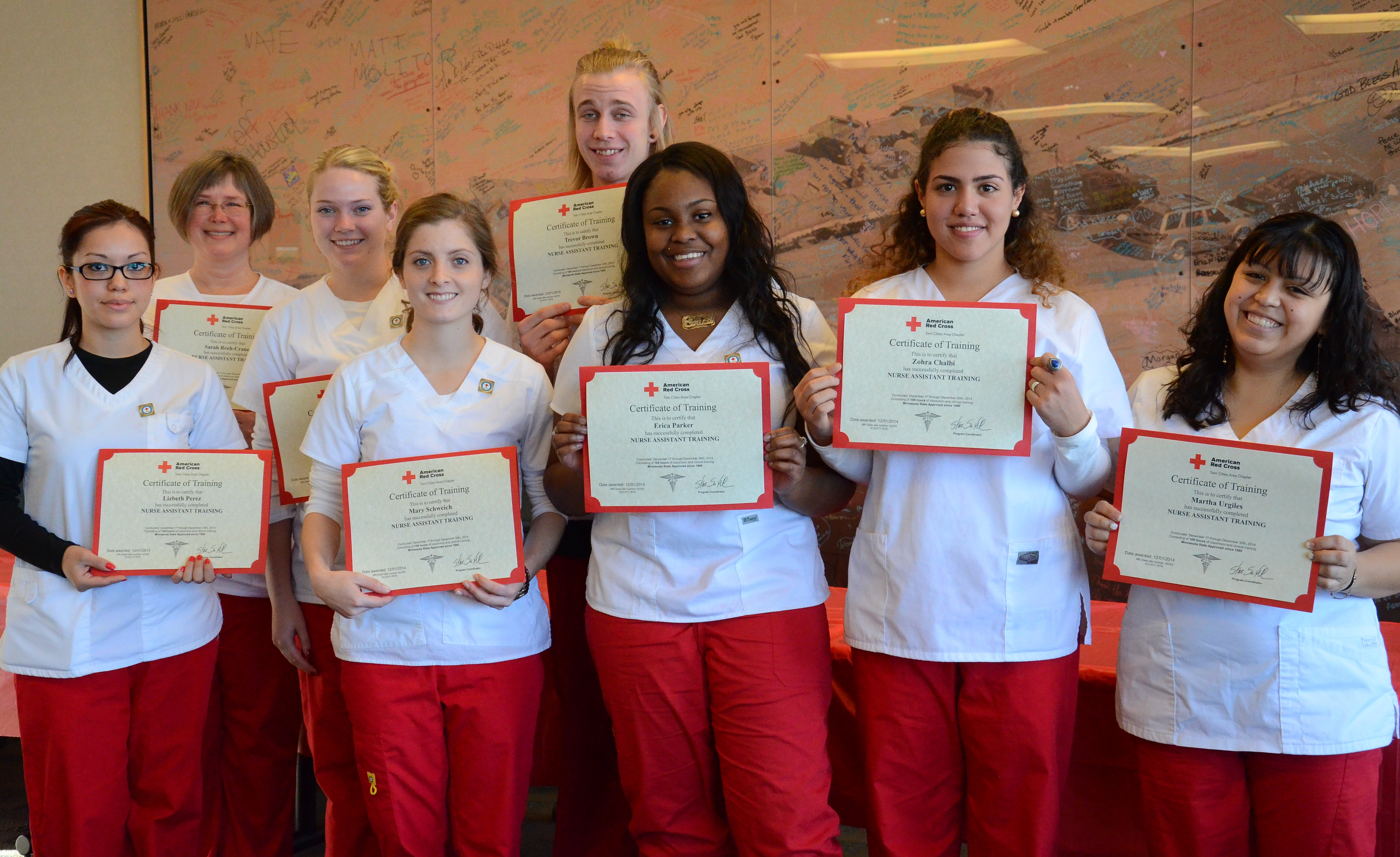 Healthcare minnesota red cross blog nat graduates display their new american red cross certificates 1betcityfo Choice Image