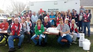 Home Fire Preparedness Campaign volunteers, Lake City, MN, April 18, 2015