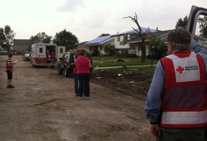 Red Cross Volunteers help out in Cole City
