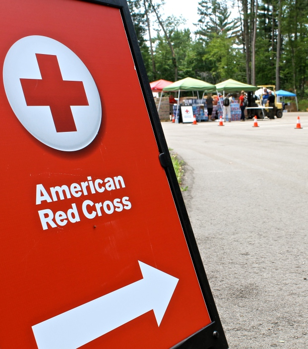 The Red Cross, along with the Salvation Army and the local sheriff department, set up a relief station at Timberwood Church, just South of Nisswa. Red Cross support includes assessing damage of neighborhoods, providing water and relief supplies to affected families and others on-the-ground cleaning up, and coordinating with local and regional relief partners on the response efforts.