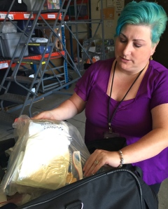 Kami Buccellato goes through the supplies inside the Nursing Kit.