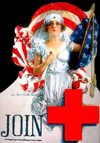World War I-era, 1914-1918, Red Cross poster in the Minnesota Historical Society collection.