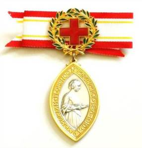 The Florence Nightingale Medal is awarded by the International Committee of the Red Cross.