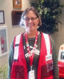 Red Cross volunteer Susan Cebelinski checked in at the Red Cross office in Duluth, Minnesota, on April 6, 2016, before going to Louisiana where she will provide emotional support to people impacted by the flooding. Thank you Susan!
