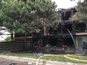 The most burned units at Beach South Apartments in Robbinsdale, Minnesota, June 3, 2016