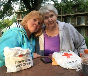 Karri Solum and her mom Donna Parrish will need to find a new home after their apartment burned.