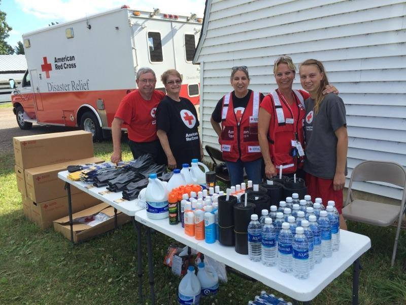 Disaster relief supplies for summer storm clean-up, Mora, Minnesota, July 2016. Photo: Red Cross