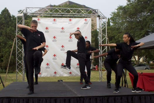 Patrick Henry High School Step Team, 2016 Run for Blood, Minneapolis, MN. Photo credit: Jonathan Yoon/American Red Cross