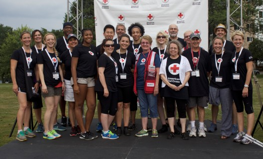 Volunteers and staff, 2016 Run for Blood, Minneapolis, MN. Photo credit: Carrie Carlson-Guest/American Red Cross