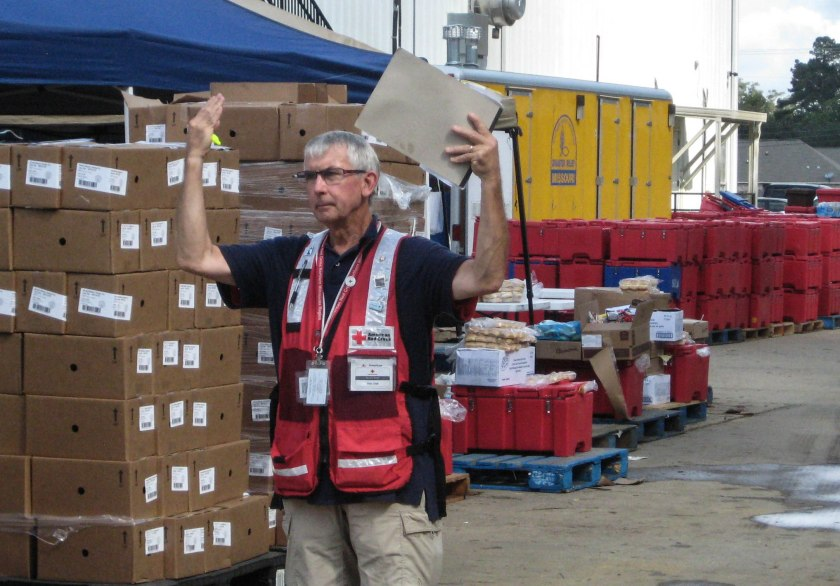 Rick Graft working flooding relief response, Louisiana. Photo provided by Rick