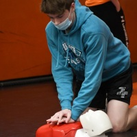 Every second counts during a cardiac arrest. Students and adults can save lives by knowing how to perform CPR and use an automated external defibrillator (AED).
